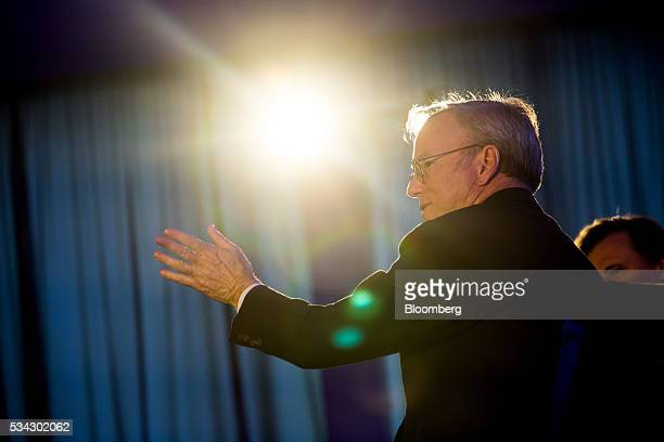 Eric Schmidt executive chairman at Alphabet Inc speaks during the Bloomberg Breakaway Summit in New York US on Wednesday May 25 2016 At the inaugural...