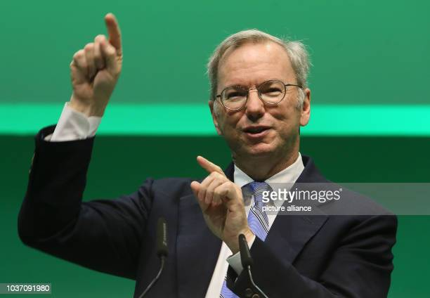 Eric Schmidt Executive Chairman of Google speaks during the NOAH Internet Conference at the Tempodrom in Berlin Germany 10 June 2015 Entrepreneurs...
