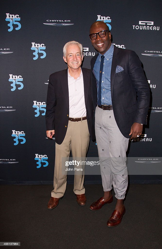 Eric Schurenberg and Amos Winbush attend Inc. Magazine 35th Anniversary Party at Tourneau Time Machine on September 9, 2014 in New York City.