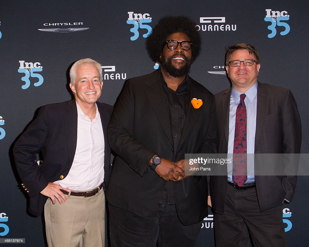 Eric Schurenberg,Quest Love and Jim Ledbetter attend Inc. Magazine 35th Anniversary Party at Tourneau Time Machine on September 9, 2014 in New York City.