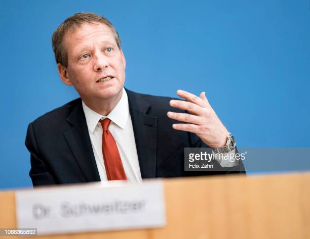 Eric Schweitzer President of the German Chamber of Commerce and Industry is pictured during a press conference on November 29 2018 in Berlin Germany