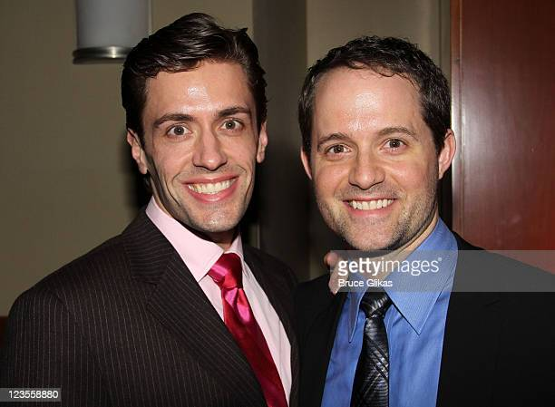 Eric Sciotto and David Eggers pose at The Opening Night After Party for 'Priscilla Queen of the Desert The Musical' on Broadway at Pier 60 on March...