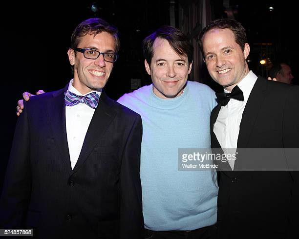 Eric Sciotto Matthew Broderick with David Eggers during the Broadway Opening Night Gypsy Robe Ceremony honoring Cameron Adams in 'Nice Work If You...