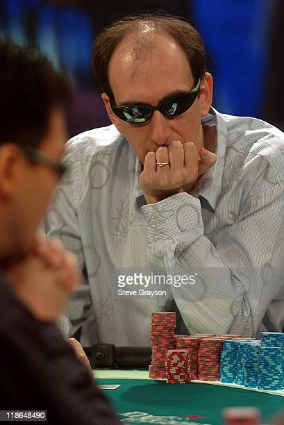 Eric Seidel competes in the final table of the World Poker Tour's Doyle Brunson North American Poker Championship at the Bellagio Hotel in Las Vegas...