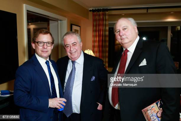 Eric Shawn Dr Marc Benhuri and Danny Frank during the Paul Dee Dee Sorvino celebrate their new book Pinot Pasta Parties at 200 East 57th Street on...