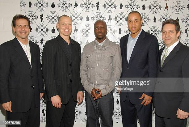 Eric Sherman Adam Graves Wyclef Jean John Starks and Allan Infeld at the Fuse Upfront Bash 08 at Espace in NYC on April 10 2008