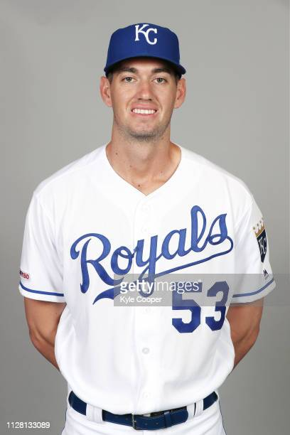 Eric Skoglund of the Kansas City Royals poses during Photo Day on Thursday February 21 2019 at Surprise Stadium in Surprise Arizona