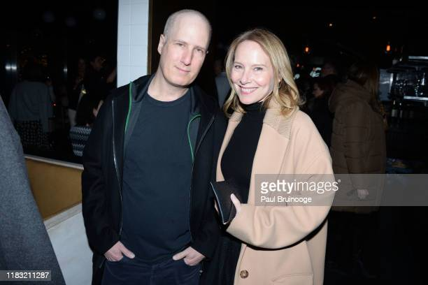 Eric Slovin and Amy Ryan attend New York Special Screening Of A Beautiful Day In The Neighborhood After Party at Le District Restaurant on November...