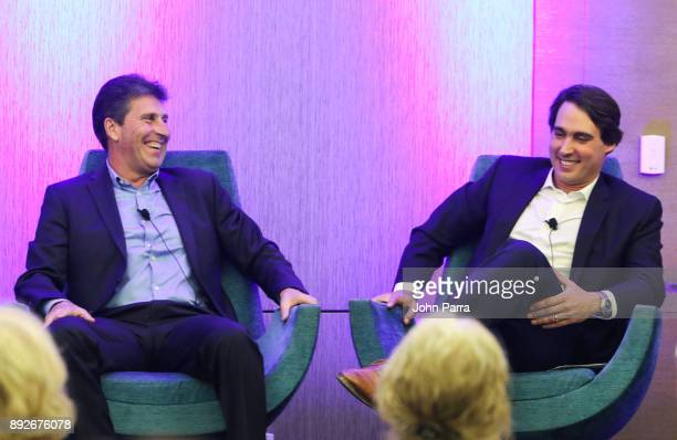 Eric Soulavy and Jose Maria Olazbal attend A Conversation with Jose Maria Olazbal during the 121 Marina Invitational Day 1 at 121 Marina at Ocean...