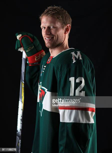 Eric Staal of the Minnesota Wild poses for a portrait during the 2018 NHL AllStar at Amalie Arena on January 27 2018 in Tampa Florida