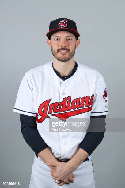 Eric Stamets of the Cleveland Indians poses during Photo Day on Wednesday February 21 2018 at Goodyear Ballpark in Goodyear Arizona