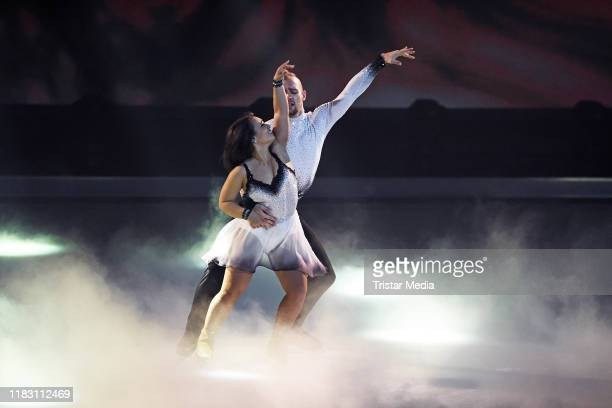 Eric Stehfest Amani Fancy during the 2nd SAT1 Live TV show 'Dancing on Ice' at MMC TV Studios on November 17 2019 in Cologne Germany