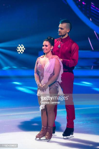 Eric Stehfest and Amani Fancy during the 5th show of the TVSeries Dancing on Ice on December 06 2019 in Cologne Germany