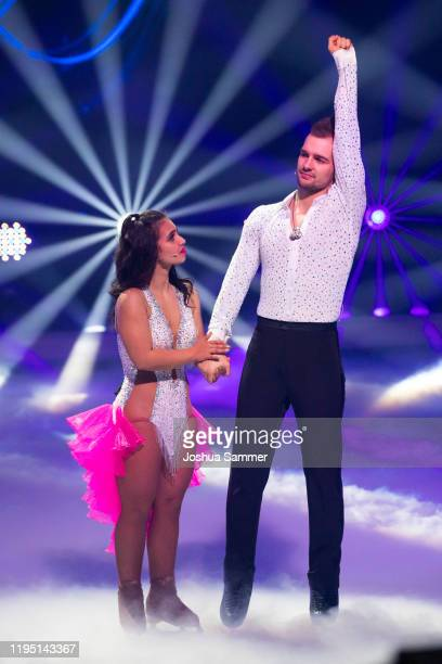Eric Stehfest and Amani Fancy during the finals of the television show Dancing On Ice on December 20 2019 in Cologne Germany