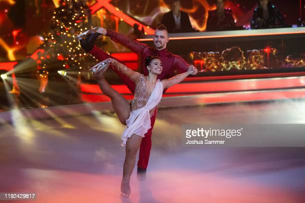 Eric Stehfest and Amani Fancy perform during the 5th show of the TV series Dancing on Ice on December 06 2019 in Cologne Germany
