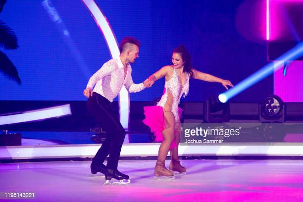 Eric Stehfest and Amani Fancy perform during the finals of the television show Dancing On Ice on December 20 2019 in Cologne Germany