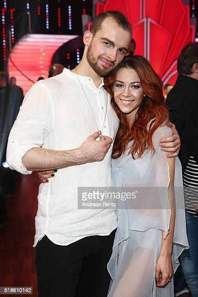 Eric Stehfest and Oana Nechiti attend the 3rd show of the television competition 'Let's Dance' on April 1 2016 in Cologne Germany