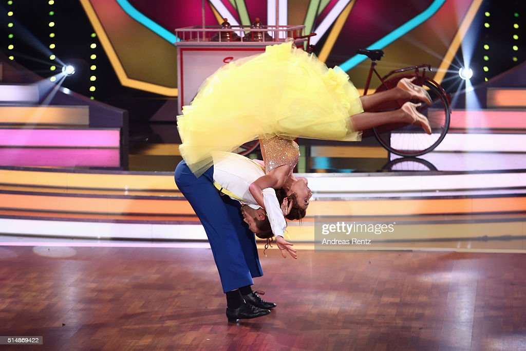 Eric Stehfest and Oana Nechiti perform on stage during the 1st show of the television competition 'Let's Dance' on March 11, 2016 in Cologne, Germany.
