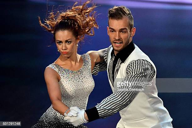 Eric Stehfest and Oana Nechiti perform on stage during the 9th show of the television competition 'Let's Dance' at Coloneum on May 13 2016 in Cologne...