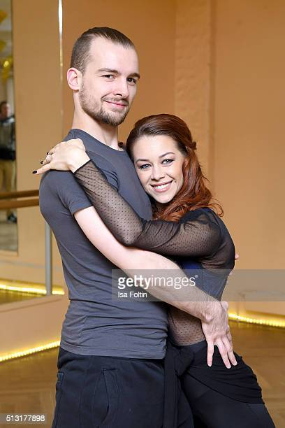 Eric Stehfest and Oana Nechiti pose at a photo call for the television competition 'Let's Dance' on March 1 2016 in Berlin Germany On March 11th the...