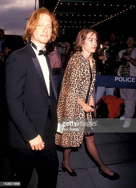 Eric Stoltz and guest at the Opening Night of 'Angels in America' Walter Kerr Theatre New York City
