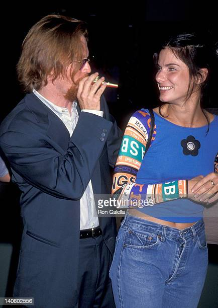 Eric Stoltz and Sandra Bullock at the Premiere of 'Sleep with Me', Pacific Design Center, West Hollywood.