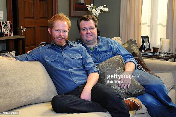Eric Stonestreet and Jesse Tyler Ferguson play a gay couple - on the set of ABC's Modern Family, February 19, 2010 in Los Angeles, California.