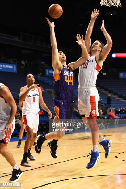 Eric Stuteville of the Northern Arizona Suns shoots the ball against the Agua Caliente Clippers on December 8 2017 at Citizens Business Bank Arena in...