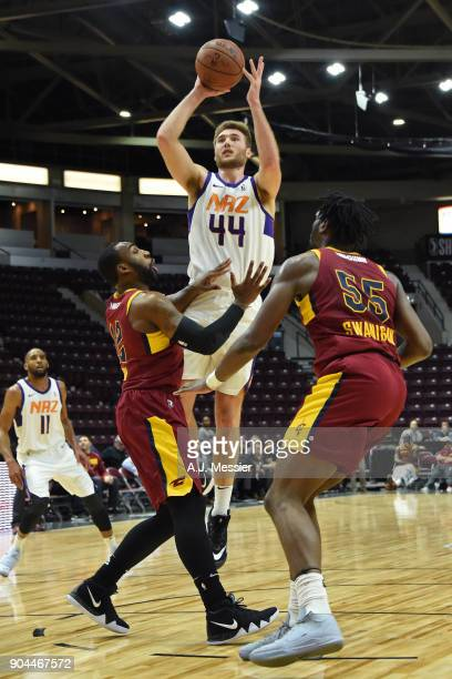 Eric Stuteville of the Northern Arizona Suns shoots the ball against the Canton Charge during the NBA GLeague Showcase on January 12 2018 at the...