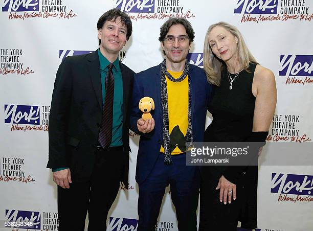 Eric Svejcar Michael Unger and Jennifer PaulsonLee attend 'You're A Good Man Charlie Brown' opening night after party at Dylan's Candy Bar on May 31...