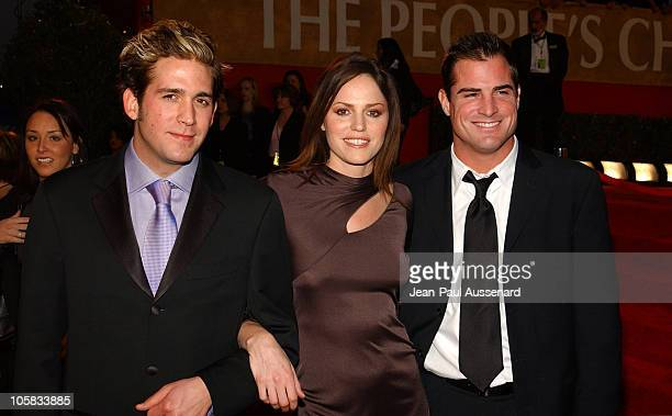 Eric Szmanda Jorja Fox and George Eads during The 30th Annual People's Choice Awards Arrivals at Pasadena Civic Auditorium in Pasadena California...