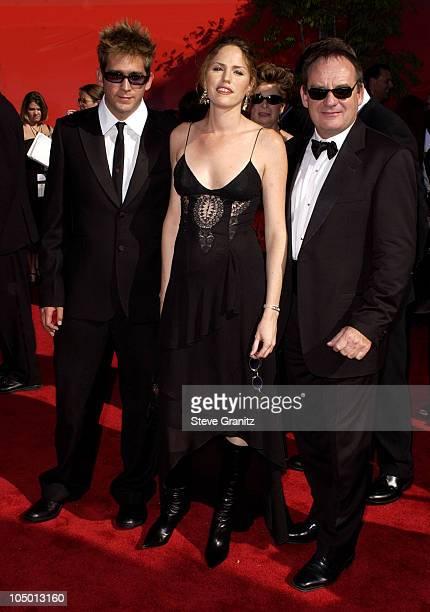 Eric Szmanda Jorja Fox and Paul Guilfoyle during The 54th Annual Primetime Emmy Awards Arrivals at The Shrine Auditorium in Los Angeles California...