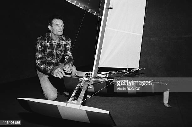 Eric Tabarly And L'Hydroptere Transoceanic On April 3th 1985 In ParisFrance