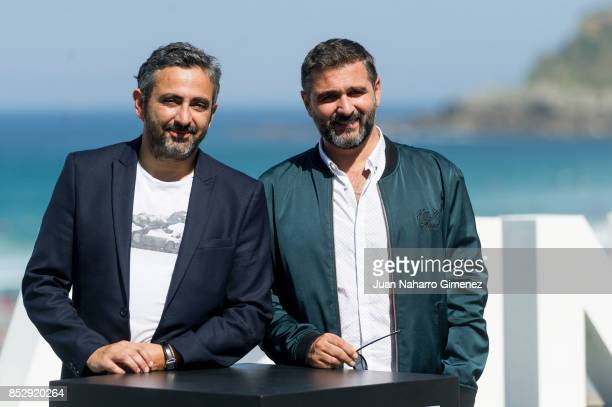 Eric Toledano and Olivier Nakache attend 'Le Sens De La Fete / C'Est La Vie' photocall during 65th San Sebastian Film Festival on September 24 2017...