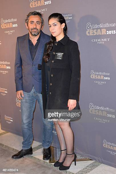 Eric Toledano and Sofia Lesaffre attend the 'Cesar Revelations 2015' Dinner at Hotel Le Meurice on January 12 2015 in Paris France