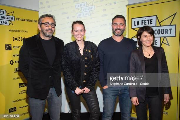 Eric Toledano Valerie Leroy Olivier Nakache and Marilyne Canto attend the La Fete Du Court Metrage on March 14 2018 in Paris France