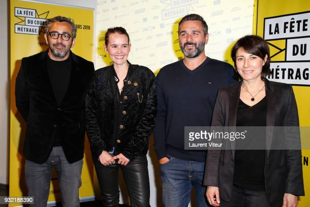 Eric Toledano Valerie Leroy Olivier Nakache and Marilyne Canto attend la Fete du Court Metrage on March 14 2018 in Paris France
