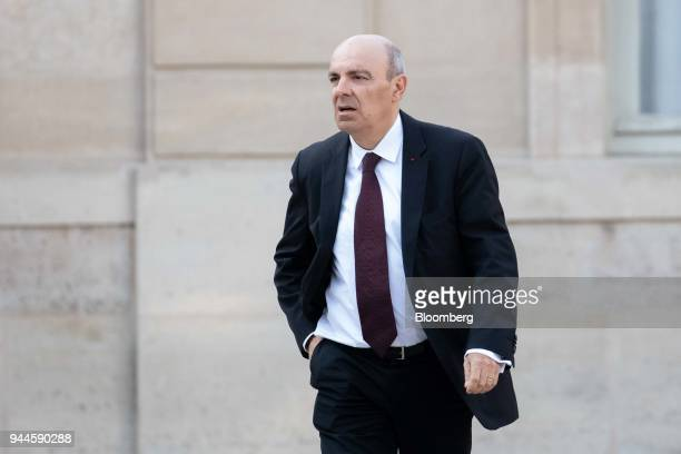 Eric Trappier chief executive officer of Dassault Aviation SA arrives at the Elysee Palace ahead of a dinner with Mohammed bin Salman Saudi Arabia's...