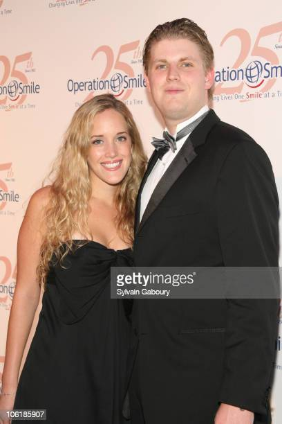 Eric Trump and guest during The Operation Smile 25th Anniversary Smile Collection Couture Event Arrivals at 7 World Trade Center in New York City New...