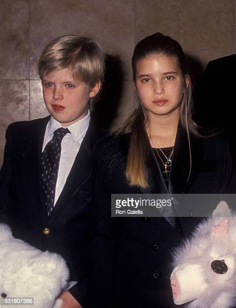 Eric Trump and Ivanka Trump attend United States Marine Corps Toys for Tots Benefit Gala on December 14 1993 at Trump Tower in New York City