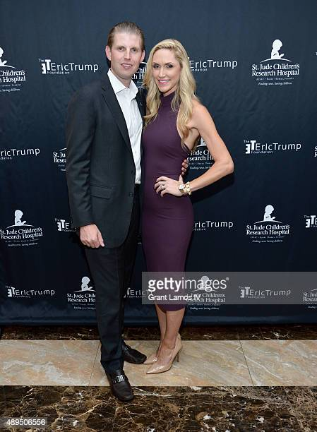 Eric Trump and Lara Trump attend the 9th Annual Eric Trump Foundation Golf Invitational Auction Dinner at Trump National Golf Club Westchester on...