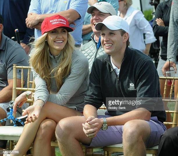 Eric Trump and Lara Trump attends the 9th Annual ETF Golf Invitational at Trump National Golf Club Westchester on September 21 2015 in Briarcliff...