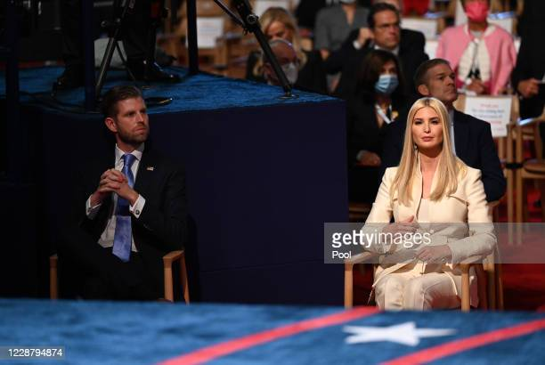 Eric Trump and Senior Advisor to the President Ivanka Trump arrive for the first presidential debate between U.S. President Donald Trump and...