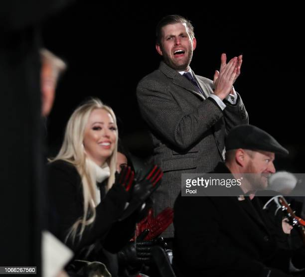 Eric Trump and Tiffany Trump welcome their father President Donald Trump and first lady Melania Trump to the National Christmas Tree lighting...