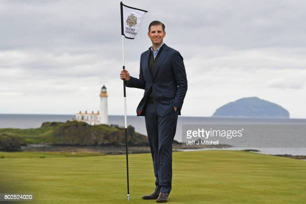Eric Trump attends the opening Trump Turnberry's new golf course the King Robert The Bruce course on June 28 2017 in Turnberry Scotland Formerly the...