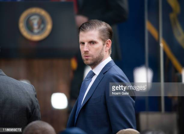 Eric Trump attends the Veterans Day Parade opening ceremony on November 11 2019 in New York City