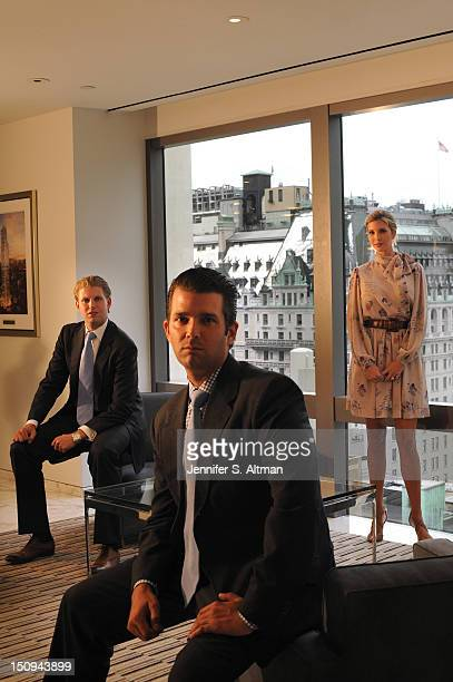 Eric Trump Donald Trump Jr and Ivanka Trump are photographed for the Washington Post on June 6 2012 in New York City