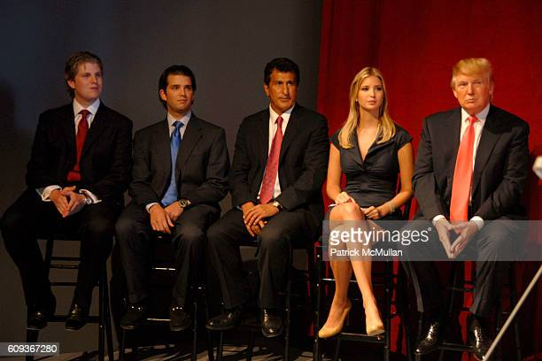 Eric Trump Donald Trump Jr Tevfik Arif Ivanka Trump and Donald Trump attend TRUMP SOHO Press Conference at Trump Soho Construction Site on September...