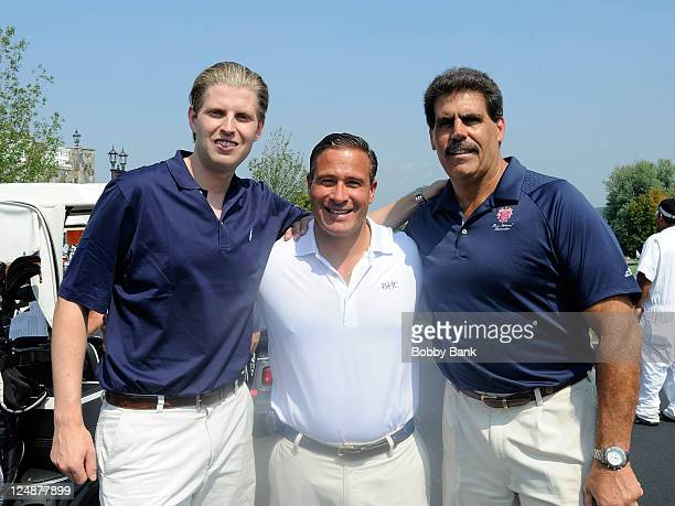 Eric Trump guest and Matt Calamari attends the 5th annual Eric Trump Foundation Golf Invitational at the Trump National Golf Club Westchester on...