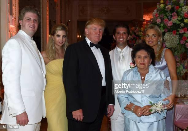 RATES Eric Trump Ivanka Trump Donald Trump Donald Trump Jr Maria Zelnickoba and Vanessa Trump pose during the wedding of Ivana Trump and Rossano...